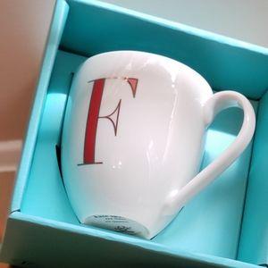 "Kate Spade Monogrammed with ""F"": Lenox Mug"